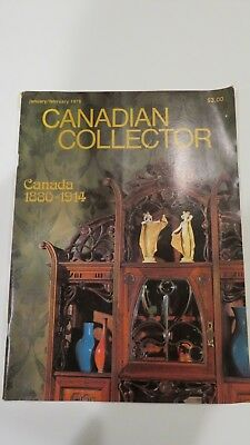 Canadian Collector magazine , Antiques, Arts, collectible, rare, Jan 1978