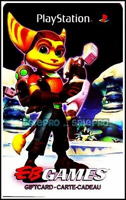 Eb Games Gamestop Playstation Ratchet & Clank Bilingual Collectible Gift Card