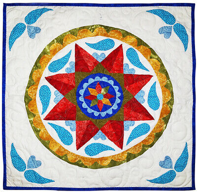 Pennsylvania Hex Wall, FINISHED QUILT - Elegant Scroll Quilting