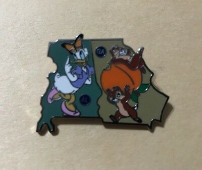 Disney Pin 2018 American Adventure Mystery Alabama Georgia Chip Dale Daisy LR