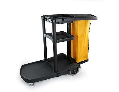 Commercial Housekeeping Cart/Janitorial Cart with Cover and Vinyl Bag