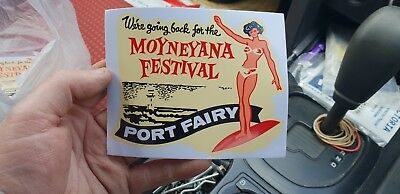 NEW Reprint MOYNEYANA festival transfer sticker decal  Port Fairy VIC moyne shir