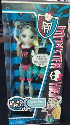 Monster High Dead Tired LAGOONA BLUE New in Box VHTF