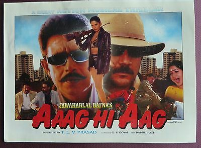 Press Book Indian Movie promotional Song booklet Pictorial Aaag Hi Aag (1999)
