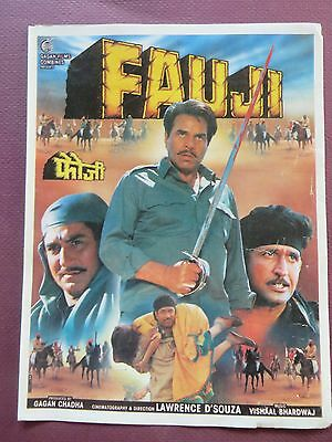 Press Book Indian Movie promotional Song booklet Pictorial Fauj (1994)