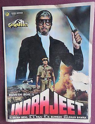 Press Book Indian Movie promotional Song booklet Pictorial Indrajeet (1991 Orig.
