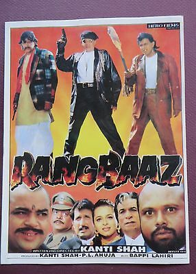 Press Book Indian Movie promotional Song booklet Pictorial Rangbaaz (1996)