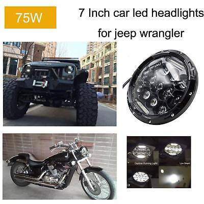 7 inch 75W LED Headlight High/Low Beam DRL for Jeep JK LJ CJ Wrangler Hummer AU