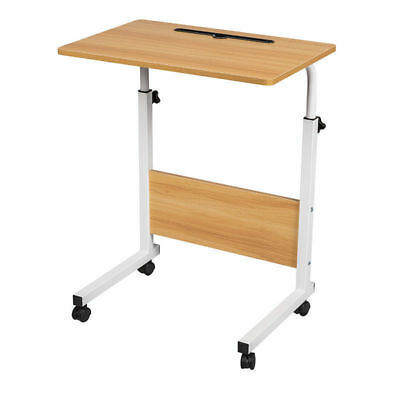 Adjustable Laptop Computer Desk Table Sofa Bed Tray Stand Side Metal Legs Walnut