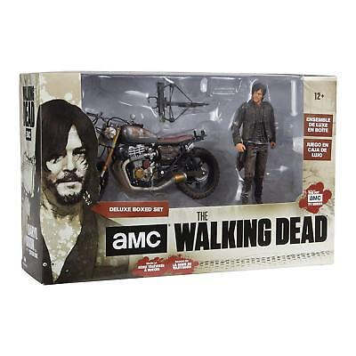 MCFARLANE WALKING DEAD TV DARYL DIXON Figure W/ NEW CUSTOM BIKE Deluxe Boxed set