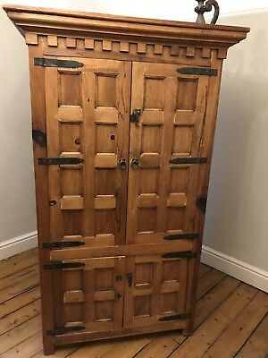 Solid Wood Cabinet Wardrobe Linen Press - Mexican Style - Solid & Heavy