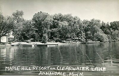 Mn Minnesota Annandale / Maple Hill Resort & Clearwater Lake / Rppc