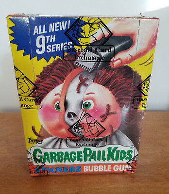 1987 Garbage Pail Kids 9th Series (OS 9) Sealed Unopened Box with 48 packs BBCE!