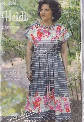 PATTERN - Heidi - quick & easy dress sewing PATTERN - Serendipity Studio