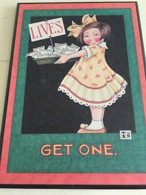 Mary Engelbreit Lives Get One ME117 ColorPlak Wall Hanging Decor plaque