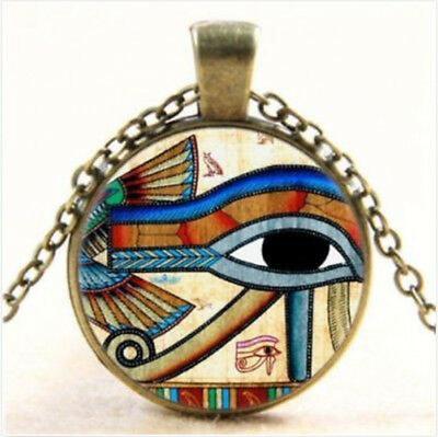 Ancient Egyptian Wadjet Eye of Horus Pendant Necklace Jewelry Design
