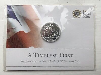 The Royal Mint St George And The Dragon 2013 UK £20 Fine Silver Coin