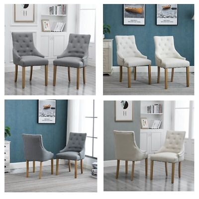 2/4Pcs Armchair Dining Chairs Button Tufted Fabric Upholstered Accent Chair Home