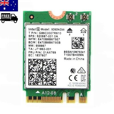 Intel Wireless BT5.0 AC 9260 NGW NGFF 1730MBPs WiFi Card 1.73Gbps Universal AU