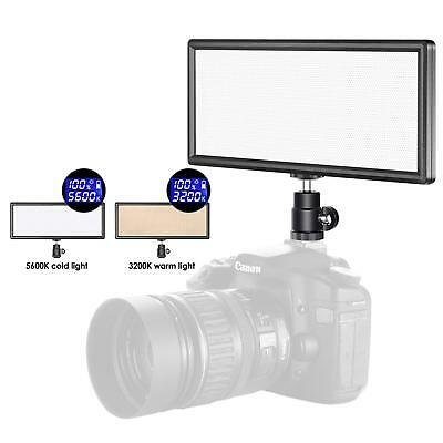Neewer Super Slim Bi-color Dimmable LED Video Light with LCD Display - Ultra Hig