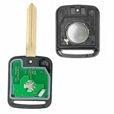 Uncut Remote key Fob 2 Button 433MHz PCF7946 for Nissan Micra K12 2002 - 2010