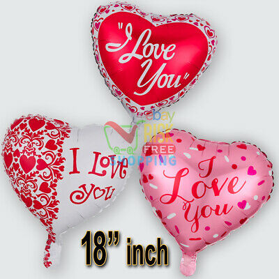 """18"""" LARGE HEART BALLOONS RED Romantic Valentines Birthday Foil baloons BALOONS"""