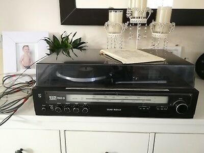 Vintage Philips stereo music centre tracking turntable music system hi fi audio.