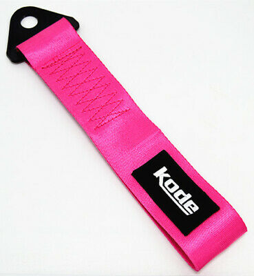 Kode-Pink Tow Show StrapTowing Eye Bumper Pull Hook Rope Car Styling JDM Euro