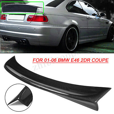 CSL Style Carbon Fiber Trunk Spoiler For BMW E46 3 Series & M3 Coupe 2001-2006