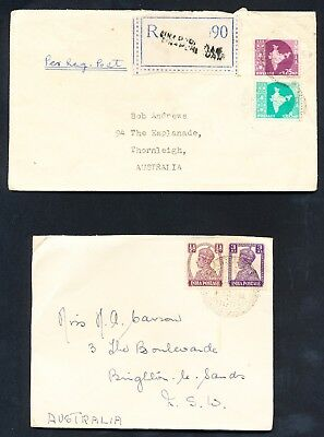3 Indian Covers to Australia and USA (228)