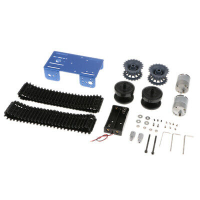 Robot Car Tank Chassis Kit for Arduino DIY Remote Control Robot Toys Blue