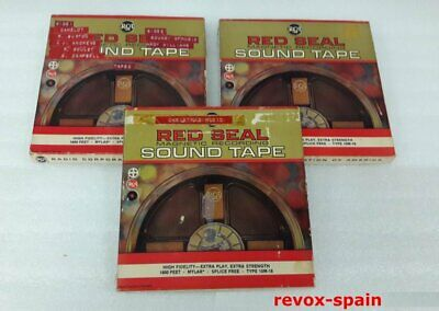 "LOT DE 3 BANDES MAGNÉTIQUES RED SEAL 7"" (18 cm 3 REEL TO REEL Bandes - LOW PRICE"
