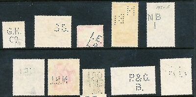 10 Indian Perfin Stamps (408)