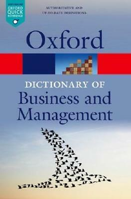 A Dictionary of Business and Management by Jonathan Law (editor)