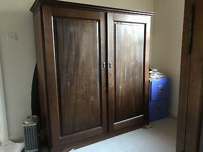 Antique Gentlemans Wardrobe - Coverted To Office Space.