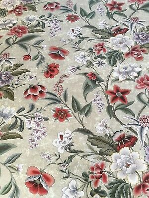 2.4 Metres Colefax & Fowler Celestine Fabric Pink/green  Rrp £85