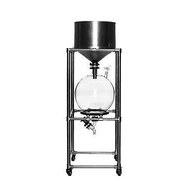 10L Lab Vacuum Suction Filter with Stainless Steel Funnel &Glass Receiving Flask