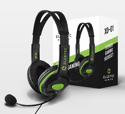 R9B3 XBOX ONE * XO-01 STEREO GAMING HEADSET with CHAT MICROPHONE * NEW ELGETEC