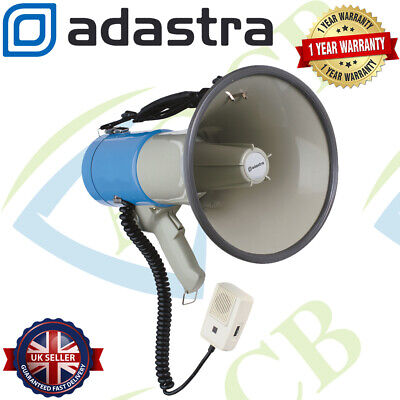 Adastra Megaphone 25W 1Km Range With Siren & Microphone For Outdoor Announcement