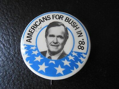 Presidential George Bush Pin Back Campaign President Button Americans For Badge