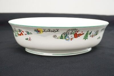 """Lenox Debut Collection Sleighride Serving Bowl Oval 10"""" Christmas"""