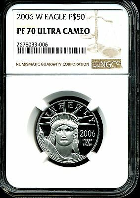 2006-W P$50 .5 oz Proof Platinum American Eagle PF70 Ultra Cameo NGC 2678033-006