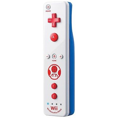 OFFICIAL Nintendo Wii/WiiU Remote Plus TOAD Motion Controller White/Blue Mario
