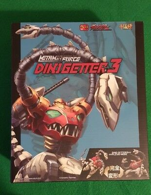 Sentinel Metamor-Force Dino Getter Robot 3 One Nuovo New Misb