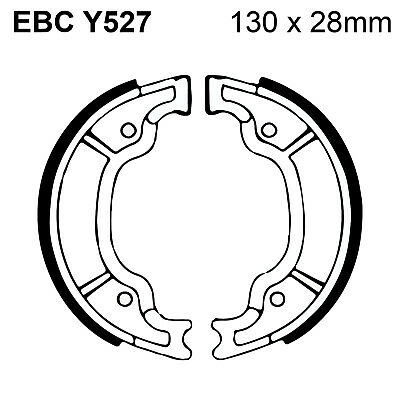 EBC Organic Brake Shoes and Spring Kit Y527 for Yamaha SR 125 89-91