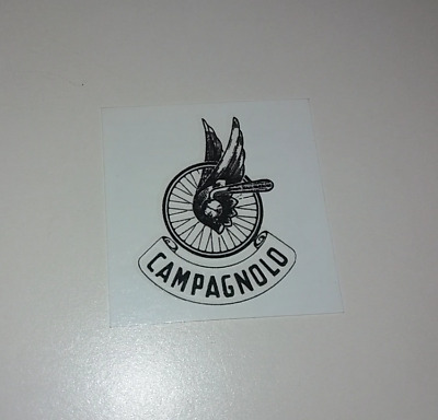 Chain guard decal Campagnolo in Black on Celeste