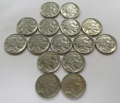 Lot of 15 Higher Grade & Most AU Buffalo Nickels 1935 - 1938  * Old US Nickels