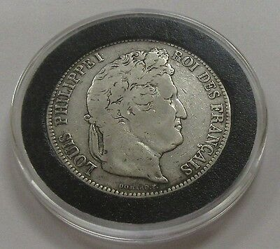 1834 France 5 Francs Silver Coin KM # 749.13 with Capsule!