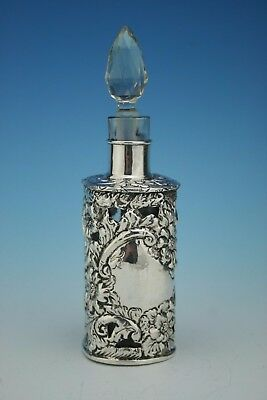 Sterling Silver Perfume Scent Bottle Cover/sleeve And Bottle - Birmingham 1903