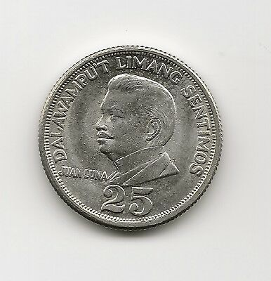 World Coins - Philippines 25 Sentimos 1967 Coin KM# 199 ; High Grade
